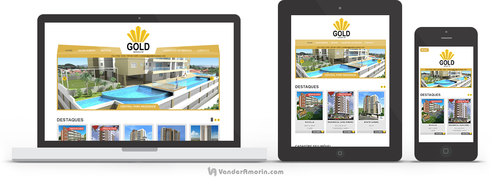 Desenvolvimento de site para Gold Imóveis RP