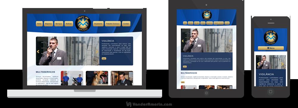Website para o Grupo MM Serviços