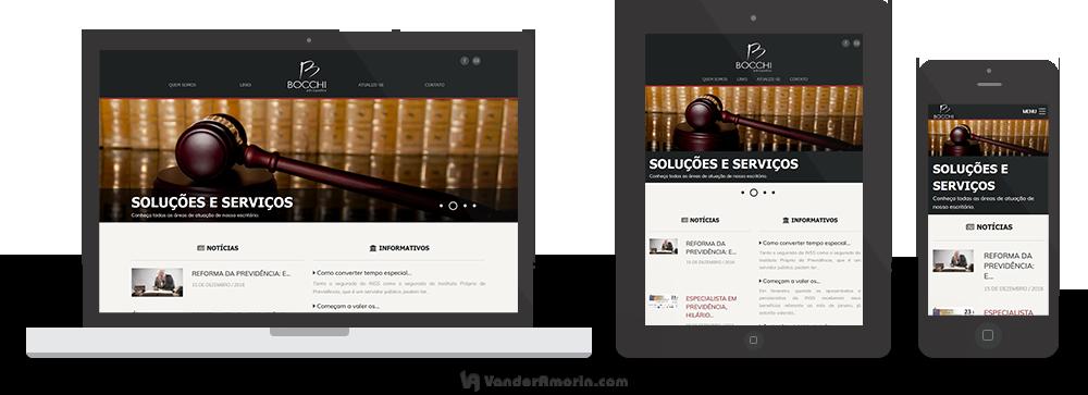 Site do Bocchi Advogados
