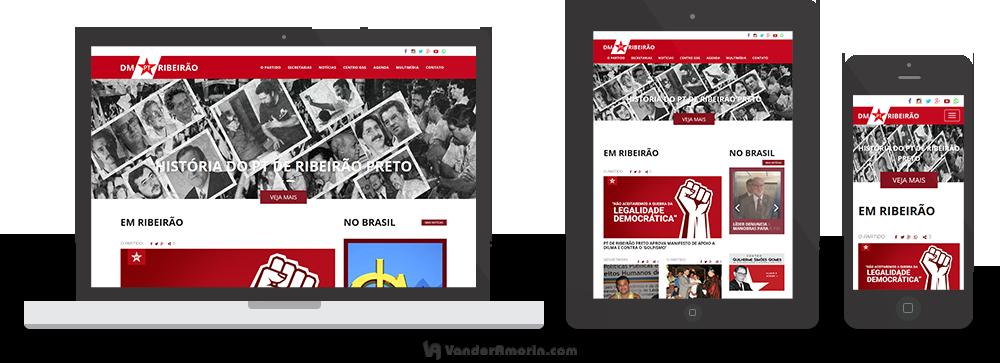 Website para o PT Ribeirão Preto