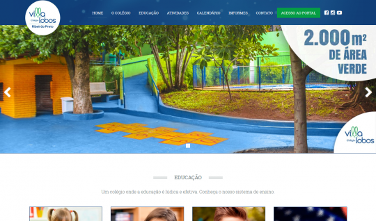 <p>Localizado em Ribeirão Preto, o Colégio Villa Lobos adota o sistema de ensino Dom Bosco, e traz como proposta de aprendizagem uma construção conjunta, que ultrapassa o conteúdo da disciplina e valoriza as descobertas que a criança faz, além da história de vida de cada um. </p> <p>O site, que traz todo o calendário de atividades do colégio, eventos e fotos, foi desenvolvido sob minha coordenação na agência UTI das Ideias. Além do mais, também fui o desenvolvedor front-end do projeto.</p>  | Portfólio Vander Amorin