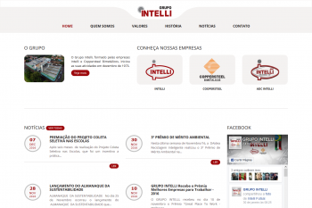 Site Institucional do Grupo Intelli