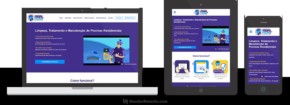 Site e Web App Tropa da Piscina