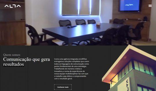 <p>Desenvolvimento front-end para o site da Alta Comunicazione, a maior agência de publicidade do interior de São Paulo.</p>  | Portfólio Vander Amorin