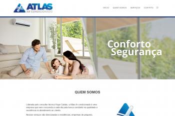 Site institucional Atlas Ar Condicionado